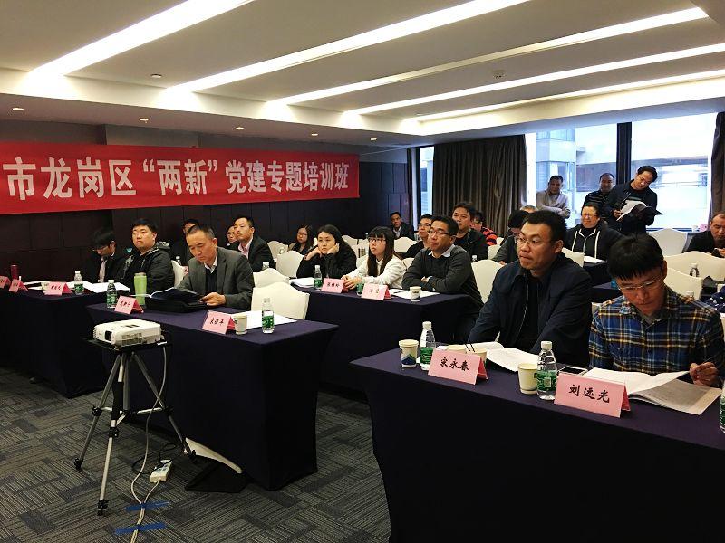 """深圳市龙岗区""""两新""""党建专题培训班"""