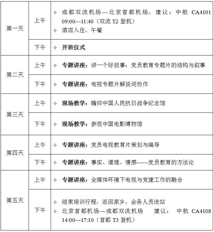 电教片专题北京培训方案